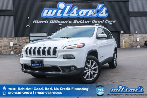 Certified Pre-Owned 2017 Jeep Cherokee Limited 4x4, Leather, Heated Steering, New Tires, Rear Camera, Remote Start and more!