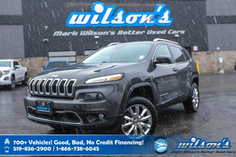 Certified Pre-Owned 2015 Jeep Cherokee Limited Leather, Navigation, New Tires and Brakes, Heated Steering, Rear Camera, Keyless!