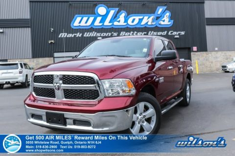 "Certified Pre-Owned 2018 Ram 1500 SLT 4x4 5.7 V8 Hemi Crew - ONLY 19,000km! Bluetooth, 5"" Touchscreen, TorqueFlite Transmission"