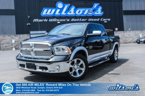 Certified Pre-Owned 2018 Ram 1500 Laramie 4x4 HEMI Crew - Leather, Rear Camera, Bluetooth, Heated Steering & Seats, Remote Start