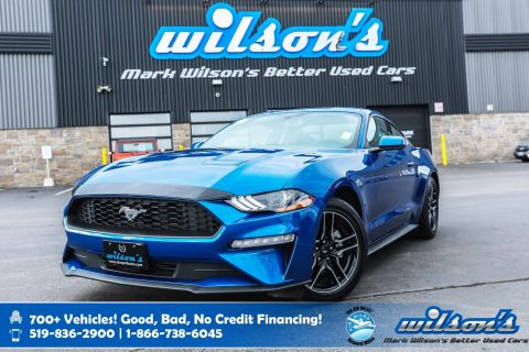 Certified Pre-Owned 2018 Ford Mustang EcoBoost Fastback with only 12,000km! Bluetooth, Rear Camera, Alloys, Intelligent Key, and more!