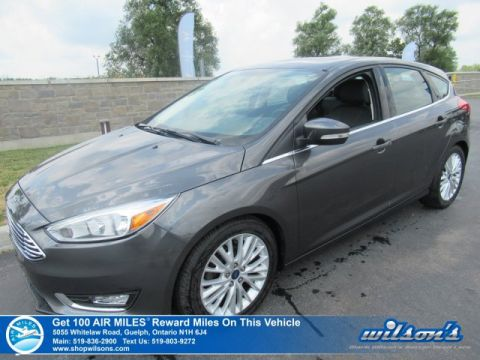 Certified Pre-Owned 2016 Ford Focus Titanium Hatchback - Leather, Sunroof, Navigation, Bluetooth, Alloy Wheels and more!