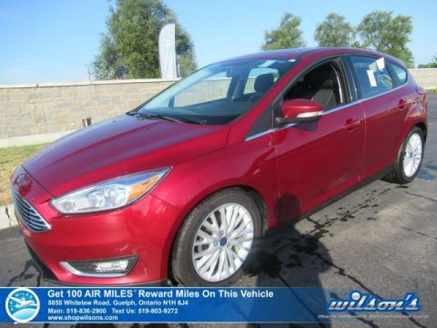 Certified Pre-Owned 2016 Ford Focus Titanium Hatchback - Leather, Navigation, Sunroof, Rear Camera, Bluetooth, Heated Seats and more!