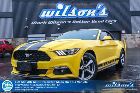 "Certified Pre-Owned 2016 Ford Mustang V6 Convertible - TURN HEADS THIS SUMMER! Rear Camera, Bluetooth, SYNC Activate, 18"" Alloys"