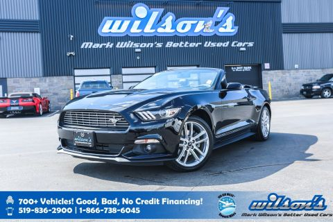 Certified Pre-Owned 2017 Ford Mustang Convertible! Navigation, Leather, Rear Sensing System, Heated Seats & More!