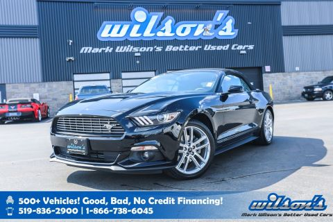Certified Pre-Owned 2017 Ford Mustang Convertible EcoBoost Premium, Leather, Navigation, Heated, Cooled + Power Seats and more!