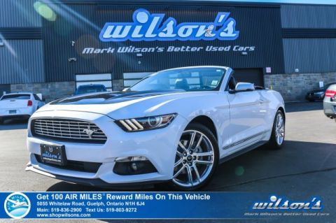 Certified Pre-Owned 2017 Ford Mustang Convertible EcoBoost Premium - Leather, Navigation, Heated Seats, Rear Camera, Bluetooth and more!