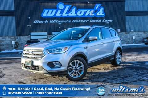 Certified Pre-Owned 2017 Ford Escape SE, Leather, Sunroof, Rear Camera, Heated + Power Seats, New Tires, Park Assist and more!