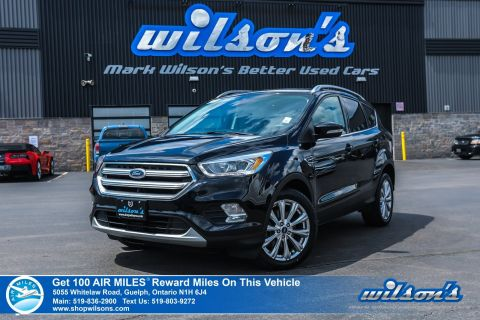 Certified Pre-Owned 2017 Ford Escape Titanium 4X4 Used - Leather, Navigation, Sunroof, Rear Camera, Blind Spot Alert, Bluetooth and more!