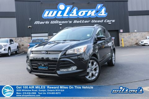 Certified Pre-Owned 2015 Ford Escape Titanium 4X4 - NEW TIRES! Leather, Navigation, Rear Camera, Bluetooth, Memory Seats and more!