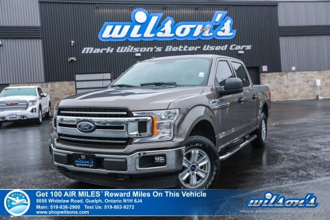 Certified Pre-Owned 2018 Ford F-150 XLT Crew Cab 4x4 2.7L Used - Power Seat, Rear Camera, Bluetooth, Alloys and more!