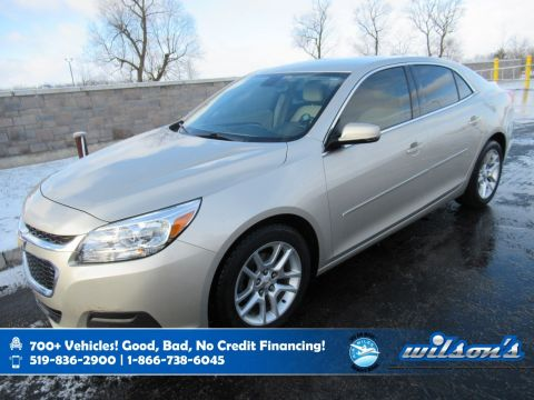 Certified Pre-Owned 2015 Chevrolet Malibu LT, Leather Trim, Remote Start, Power Seat, Rear Camera, Bluetooth and more!
