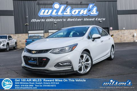 Certified Pre-Owned 2016 Chevrolet Cruze Premier Used - Leather, Sunroof, Navigation, Alloys, Cruise Control and more!