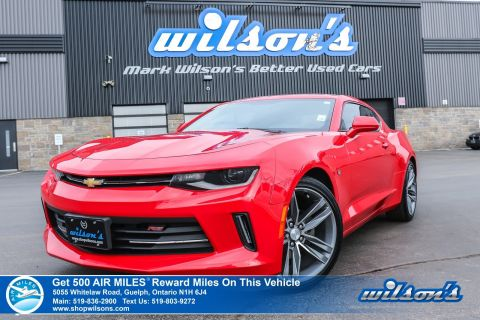 "Certified Pre-Owned 2016 Chevrolet Camaro LT - RS Package, 6-Speed! Sunroof, Bluetooth, Rear Camera, 20"" Alloy Wheels"