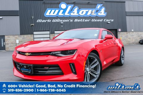 "Certified Pre-Owned 2016 Chevrolet Camaro LT W/ 1LT, 6 Speed! RS Pkg, Sunroof, Rear Camera, Bluetooth, 20"" Alloys, 7"" Touchscreen and more!"