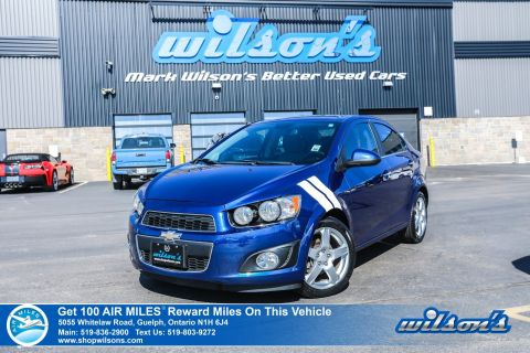 Certified Pre-Owned 2013 Chevrolet Sonic LTZ Turbo 6-Speed with Leather, Sunroof, Bluetooth, Alloys, Cruise Control and more!