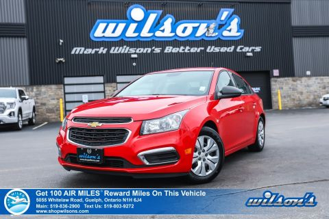 Certified Pre-Owned 2016 Chevrolet Cruze Limited 1LS - NEW TIRES! 6 Speed, Power Locks, Power Windows, AM/FM, Power Mirrors