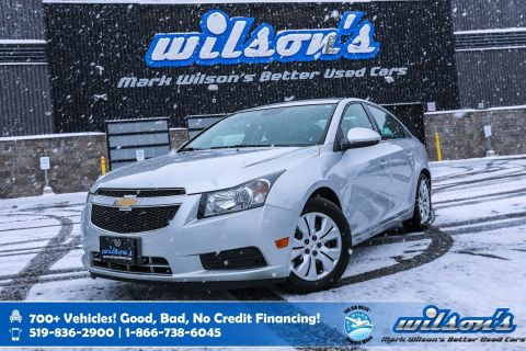 Certified Pre-Owned 2014 Chevrolet Cruze 1LT, Remote Start, Bluetooth, Heated Mirrors, Cruise Control, Keyless Entry and more!