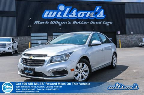 Certified Pre-Owned 2015 Chevrolet Cruze 1LT - 6 Speed, Rear Camera, Bluetooth, Cruise Control, Keyless Entry, Power Package and more!