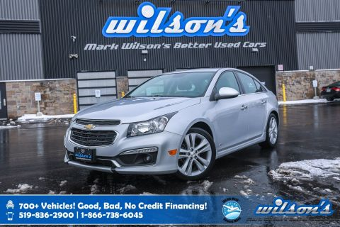 Certified Pre-Owned 2015 Chevrolet Cruze 2LT, Leather, Navigation, Sunroof, Heated Seats, Alloy Wheels and more!