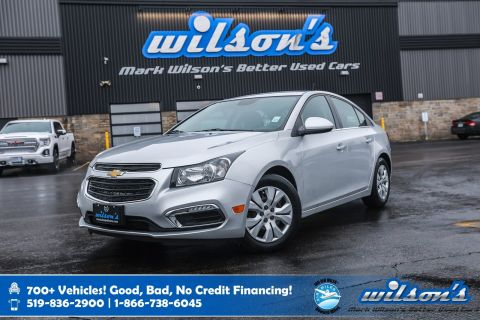 Certified Pre-Owned 2016 Chevrolet Cruze Limited LT, Rear Camera, Bluetooth, Cruise Control, Power Package and more!