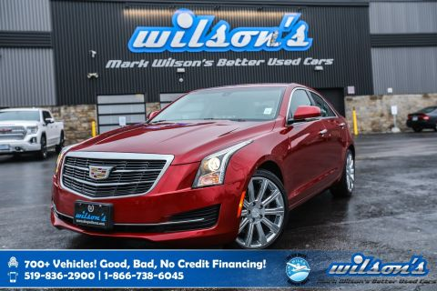 Certified Pre-Owned 2015 Cadillac ATS Sedan Luxury AWD, Leather, Navigation, Sunroof, Heated Seats + Steering, Rear Camera,Remote Start and more
