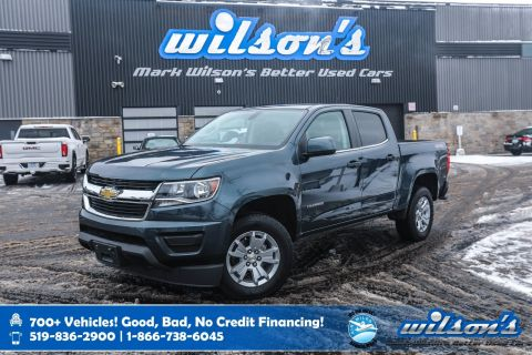 "Certified Pre-Owned 2019 Chevrolet Colorado 4WD LT V6 Crew Cab, Bluetooth, Rear Camera, Power Seat, 8"" Touchscreen, 17"" Alloy Wheels and more!"