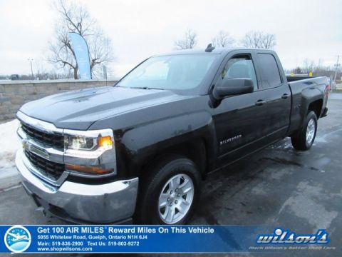 Certified Pre-Owned 2018 Chevrolet Silverado 1500 LT 4x4 5.3L Double Cab - Apple Car Play, Rear Camera, Bluetooth, Alloys, Teen Driver, Remote Audio