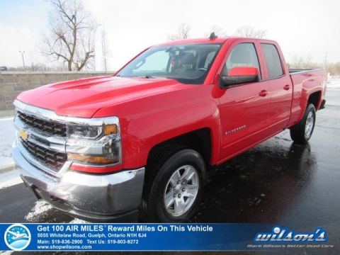 Certified Pre-Owned 2018 Chevrolet Silverado 1500 LT Double Cab 4x4 5.3L - 6.6' Box , Rear Camera, Power Seat, Bluetooth, Alloys, Teen Driver and more