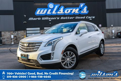 Certified Pre-Owned 2017 Cadillac XT5 Luxury AWD, Leather, Navigation, Sunroof, Heated Seats + Steering, Rear Camera and more!