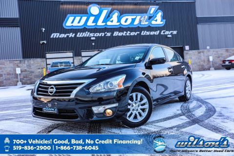 Certified Pre-Owned 2015 Nissan Altima 2.5 S, Rear Camera, Bluetooth, Heated + Power Seats, Push Start, Keyless Entry and more!