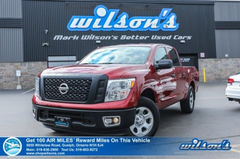 Certified Pre-Owned 2017 Nissan Titan S - Crew Cab, 5.6L, 4X4, Bluetooth, Cruise Control, Steering Radio Controls and more!