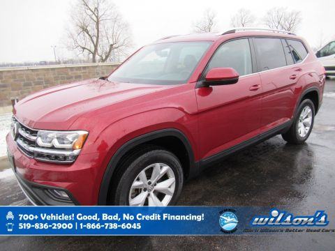 Certified Pre-Owned 2018 Volkswagen Atlas Comfortline AWD, Leather, Remote Start, Heated Seats, Power Seat, Blindspot Detection and more!