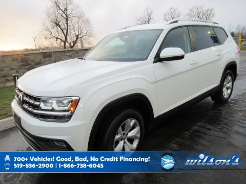 Certified Pre-Owned 2018 Volkswagen Atlas Comfortline AWD, Leather, Remote Start, Heated Seats, Power Seat, Blindspot Detect and more!