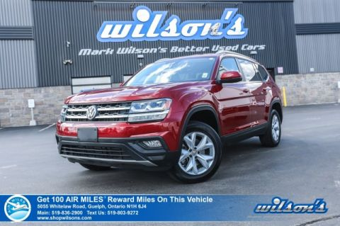 Certified Pre-Owned 2018 Volkswagen Atlas Comfortline V6 AWD - Leather, Rear Camera, Bluetooth, Apple CarPlay & Lots More!