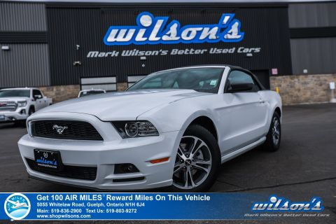Certified Pre-Owned 2014 Ford Mustang V6 Premium Convertible - A/C, Keyless Entry, Power Package, Alloys & More!