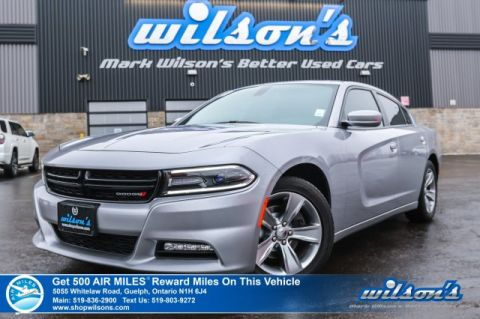 "Certified Pre-Owned 2017 Dodge Charger SXT - Sunroof, Bluetooth, Remote Start, Uconnect 8.4"" Touchscreen, Sport Seats & More!"