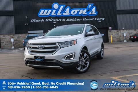 Certified Pre-Owned 2016 Ford Edge Titanium, Leather, Navigation, Sunroof, Heated Steering, New Tires, Rear Camera and more!