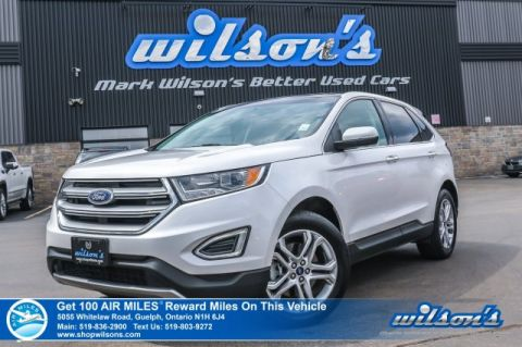 Certified Pre-Owned 2018 Ford Edge Titanium AWD - Leather, Navigation, Sunroof, Heated + Cooled Seats, Heated Steering, Bluetooth