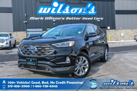 Certified Pre-Owned 2019 Ford Edge Titanium AWD, Navigation, Panoramic Sunroof, Leather, Heated + Cooled Seats,Heated Steering and more
