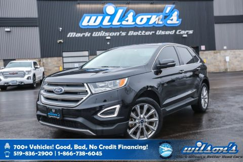 Certified Pre-Owned 2017 Ford Edge Titanium AWD, Leather, Navigation, Heated Steering, New Tires, Rear Camera, Bluetooth and more!