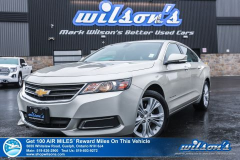 "Certified Pre-Owned 2015 Chevrolet Impala LT - LOW KM! Leather Trim, Rear Camera, Bluetooth, Remote Start, Power Seats, 18""Alloys and more!"