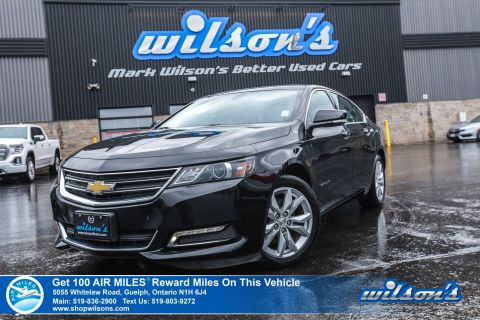 "Certified Pre-Owned 2019 Chevrolet Impala 1LT Used – Leather Trim, Rear Camera, Bluetooth, 18"" Alloys & More!"