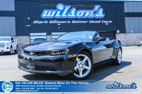 Certified Pre-Owned 2015 Chevrolet Camaro 2LT Convertible RS Package, Leather, Head-Up Display, Remote Start, Heated Seats, Bluetooth + More!