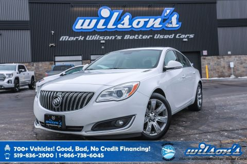 Certified Pre-Owned 2016 Buick Regal Premium AWD, Leather, Navigation, Sunroof, Heated Seats, Remote Start, Rear Camera and more!