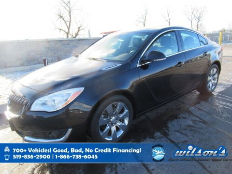 Certified Pre-Owned 2016 Buick Regal Premium I AWD, Two Tone Leather, Navigation, Sunroof, Heated Seats + Steering, Remote Start & more!
