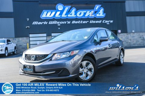 Certified Pre-Owned 2015 Honda Civic LX - Rear Camera, Bluetooth, Heated Seats, Cruise Control, Power Group and more!