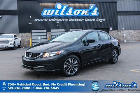 Certified Pre-Owned 2015 Honda Civic EX, Sunroof, Heated Seats, Rear Camera, Bluetooth, Cruise Control, Alloy Wheels and more!