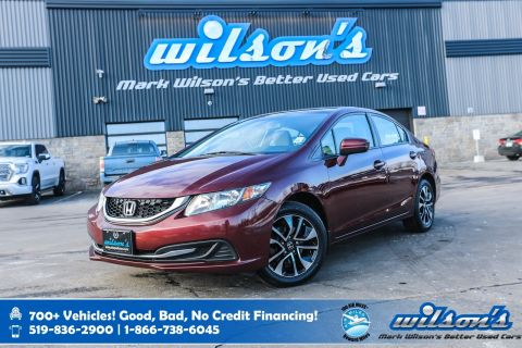 Certified Pre-Owned 2015 Honda Civic EX, Sunroof, Heated Seats, Bluetooth, Rear Camera, New Tires on Alloy Wheels and more!