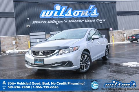 Certified Pre-Owned 2015 Honda Civic EX, Sunroof, Heated Seats, New Tires, Rear Camera, Blindspot Camera, Alloy Wheels and more!